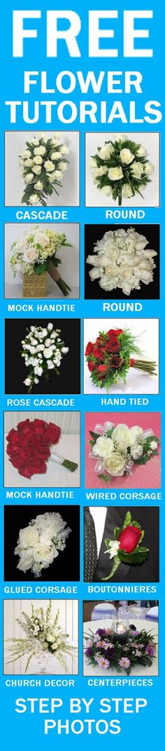 Bouquet Jewelry - Jewel Pin - Easy Wedding Flower Tutorials and Supplies  Learn how to make bridal bouquets, wedding corsages, groom boutonnieres, church decorations and reception table centerpieces.  Buy wholesale flowers and discount florist supplies.
