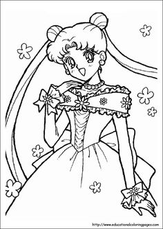 Sailor Moon Coloring - Educational Fun Kids Coloring Pages and Preschool Skills Worksheets
