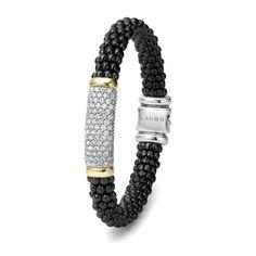 Diamond Caviar Bracelet | Black Caviar | LAGOS Jewelry #loveLAGOS #StackWithBlack