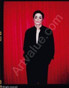 "Arno Bani, Michael Jackson ""Sur fond rouge"", photoshoot 1999"