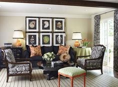 Perfectly manageable. Love navy fabrics on neutral background w/ coral and green accents.