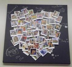 heart fotos story polaroid tableau couple coeur