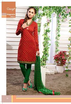 Lehariya & Bandhani #Suit Dupatta Embellished With Handwork Borders. It's made from #Cotton fabric.