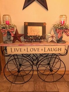 Old cart - Live*Love*Laugh