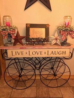 Old cart - Live*Love*Laugh
