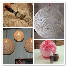 Reuse And Recycle Objects Around Your House To Make DIY Hanging Lamps  - http://www.amazinginteriordesign.com/reuse-and-recycle-objects-around-your-house-to-make-diy-hanging-lamps/