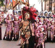 Filas at moors and christians grand parade in Moraira