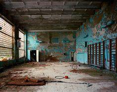 Gymnasium in School City of Pripyat, Chernobyl Exclusion Zone, Ukraine, 2001 x 127 cm Chromogenic print on Fuji Crystal Archive, © Robert Polidori
