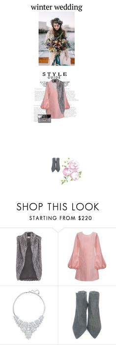 """""""Sin título #1026"""" by just-lala ❤ liked on Polyvore featuring DKNY, Cynthia Rowley, Swarovski, Stuart Weitzman and winterwedding"""