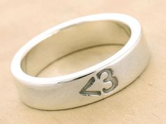 Less Than Three Ring: $55; etsy.com #weddingring #nontraditionalbride #engagementring
