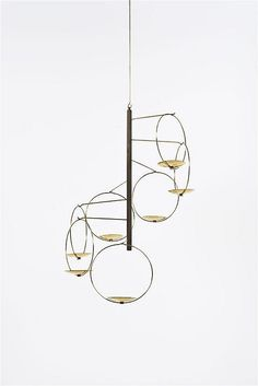Timo Sarpaneva; Brass Candle Holder, c1960.