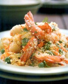 Garnelarak kuszkusszal Risotto, Ethnic Recipes, Food, Cilantro, Essen, Meals, Yemek, Eten