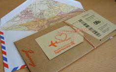 DIY. Invitación tarjeta de embarque