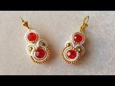 Soutache Jewelry, Beaded Jewelry, Handmade Jewelry, Beading Projects, Beading Tutorials, Tutorial Soutache, Lace Earrings, Drop Earrings, Fabric Necklace
