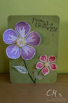 Karte zum Geburtstag, Stampin' Up!, Stempelsets Sassy Salutations, Mixed Bunch & Build a Blossom