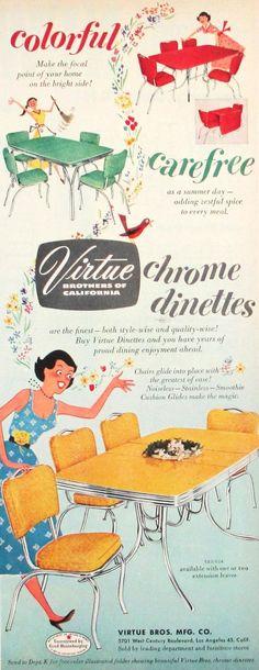 Virtue kitchen table advertisement