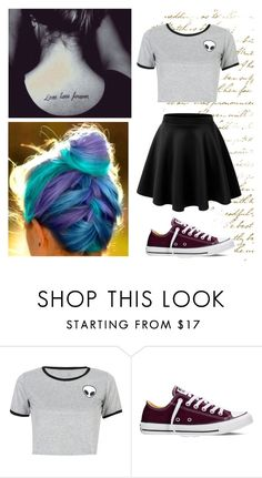 """Unbenannt #189"" by mariiia-hale on Polyvore featuring Mode, WithChic und Converse"