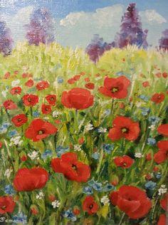Poppies oil cm. 18 x 24