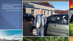 Dear Jack Badrick   A heartfelt thank you for the purchase of your new Subaru from all of us at Premier Subaru.   We're proud to have you as part of the Subaru Family.