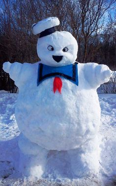 Ghostbusters News ( ghostbustersnews ) - The Stay Puft Marshmallow Snowman Comic Cat, Die Geisterjäger, Ghostbusters Party, Peter Griffin, Snow Sculptures, Snow Art, Ghost Busters, Build A Snowman, Arte Disney