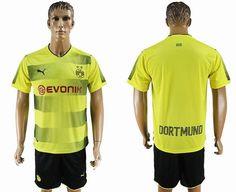 2017-2018 Dortmund club yellow soccer jersey home