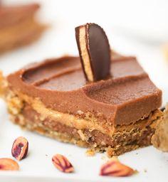 Peanut Butter Cup Pie. (Or Almond Butter Cup.) No-Bake Dessert.