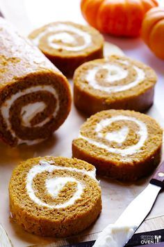 A classic pumpkin roll is always a great option for a fall dessert.