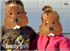 DIY Groundhog Day masks
