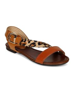 Breckelles CD45 Women Mix Media Multicolor Slant Strap Open Toe Sandal - Leopard ** Details can be found by clicking on the image.