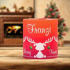 #Weihnachtsdeko #Christmas #Tischkarte #Windlicht Elche rot: https://www.meine-hochzeitsdeko.de/windlicht-weihnachten-tischkarte-elche