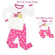 Matching Girls and 18'' Doll Pajamas Sets Girls Pajamas Children Clothes Pijama Unicornio Kids Unicorn Clothes for Girls Price: 23.44 & FREE Shipping #fashion #tech #home #lifestyle Baby Doll Pajamas, Toddler Pajamas, Girls Pajamas, Pyjamas, Pjs, Ag Dolls, Girl Dolls, Unicorn Outfit, Unicorn Clothes
