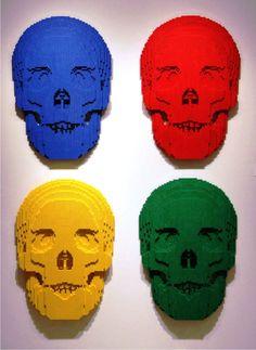 Lego skulls, artist Nathan Sawaya