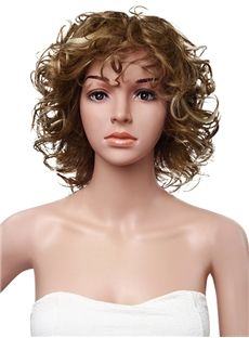 12 Inches 120% Full Lace Cap Curly Human Hair