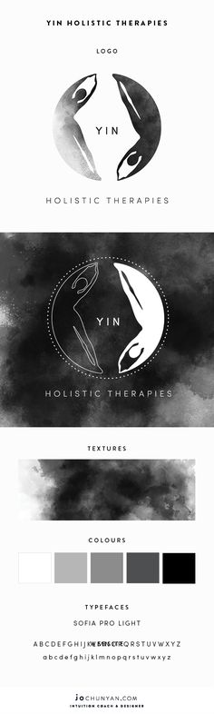Portfolio : Logo Design for Yin Holistic Therapies created and designed by Jo ChunYan www.jochunyan.com