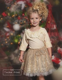 Sparkle Within Sequin Bow Skirt - Gold - Size 7 Cute Flower Girl Dresses, Lace Flower Girls, Girls Dresses, Long Dresses, Bow Skirt, Mini Skirt Dress, Mini Skirts, Tulle Bows, Tulle Dress