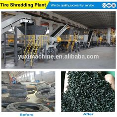 Plastic Waste Recycling, Shredder Machine, Recycling Machines, Tyres Recycle, Used Tires, Zhengzhou, Wooden Case, Powder, Plants