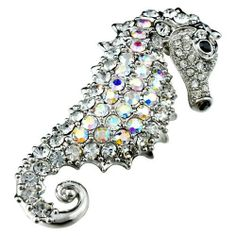 Pugster Silver Hippocampus Swarovski Crystal Brooches U0026 Pins Pugster.  $17.84. One Free Elegant Cushioned Gift Box Available With Every Order From  Pugster.