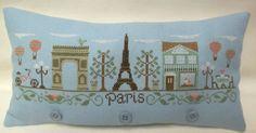 Paris Street Mini Pillow / Shelf Sitter by luvinstitchin4u on Etsy