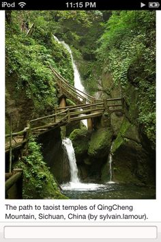 A bridge on Daoist mountain Qingcheng (Town of Purity), Sichuan Province
