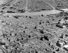 Tokyo after the firebombing. An estimated 1.5 million people lived in the burned out areas. Given a near total inability to fight fires of the magnitude and speed produced by the bombs, casualties could have been several times higher than these estimates. The figure of 100,000 deaths in Tokyo may be compared with total US casualties in the four years of the Pacific War—103,000—and Japanese war casualties of more than three million.