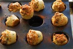 Gorgonzola and smoked bacon polenta breakfast muffins