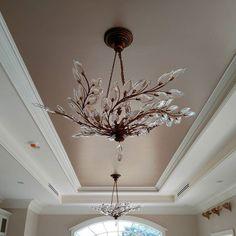 Metallic champagne ceiling
