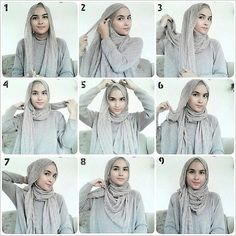 Fashion Hacks Ideas and Fashion Dresses Cocktail. Square Hijab Tutorial, Pashmina Hijab Tutorial, Hijab Style Tutorial, Hijab Turban Style, Hijab Chic, Hijab Outfit, How To Wear Hijab, How To Wear Scarves, Muslim Fashion