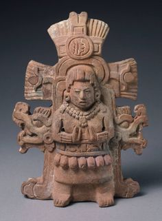 Maya. Rattle depicting a goddess. 600–800 AD. Late classic Maya. Shared by Edith Cruz