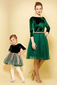 Set Rochii Mama-Fiica Carla, din catifea si tulle cu decoratiune in talie. Boutique, Dresses With Sleeves, Formal Dresses, Long Sleeve, Skirts, Fashion, Dresses For Formal, Moda, Skirt