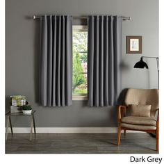 Solid Insulated Thermal Blackout 63-inch Curtain Panel Pair - Overstock Shopping - Great Deals on Lights Out Curtains