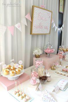 8 comunión princesas - comunión temática princesas - comunión de cuento - comunión rosa blaco y dorado - fiesta princesas - cumpleaños princesas - mesa dulce princesas 4
