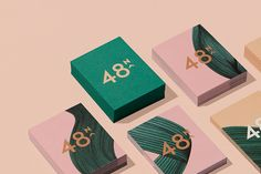 Beautiful branding for 48 North, a women's targeted and led cannabis brand, by Blok Design in Toronto. a bold female-led company is rethinking the landscape of Cannabis in Canada. With their main focus being women we set out to create a brand tha Hotel Branding, Restaurant Branding, Café Branding, Bakery Branding, Bakery Logo, Branding Ideas, Kids Branding, Corporate Identity Design, Brand Identity Design