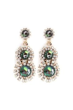 For Lennie in thanks for the PJ Hide and Seek last night!!!   Valencia Earrings in Emerald Crystal