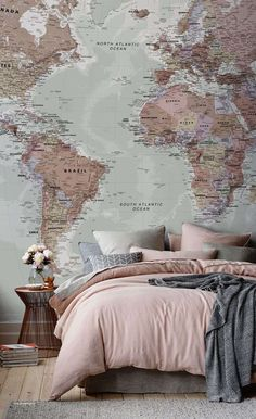 Travel Wall Ideas World Maps - Best Of Travel Wall Ideas World Maps, Large World Map №702 Canvas Print Zellart Canvas Arts #travelworldmap
